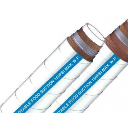 WHITE TUBE FOOD SUCTION HOSE